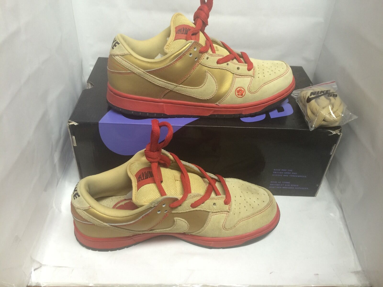 nike dunk dunk nike bas sb lucky cat / argent chat taille 9,5 supreme 72c0f3