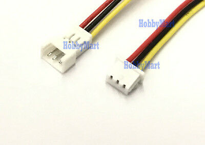 1.25mm Pitch PicoBlade 2Pin 1S 3.7V Male Female Battery Connector 10cm wire x 50