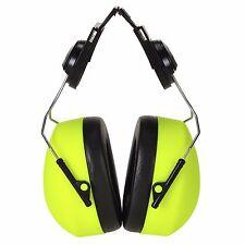 Portwest PS42 Clip-On Helmet Mounted Ear Defender Protector HV Hi Vis