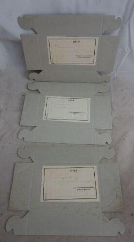3 Blanko Feldpost Schateln Deckel WW2