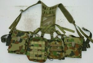 AAFC-PLATATAC-AUSCAM-ARMY-RAAF-CADET-WEBBING-SET-PLUS-2-DPC-MINIMI-Pouches