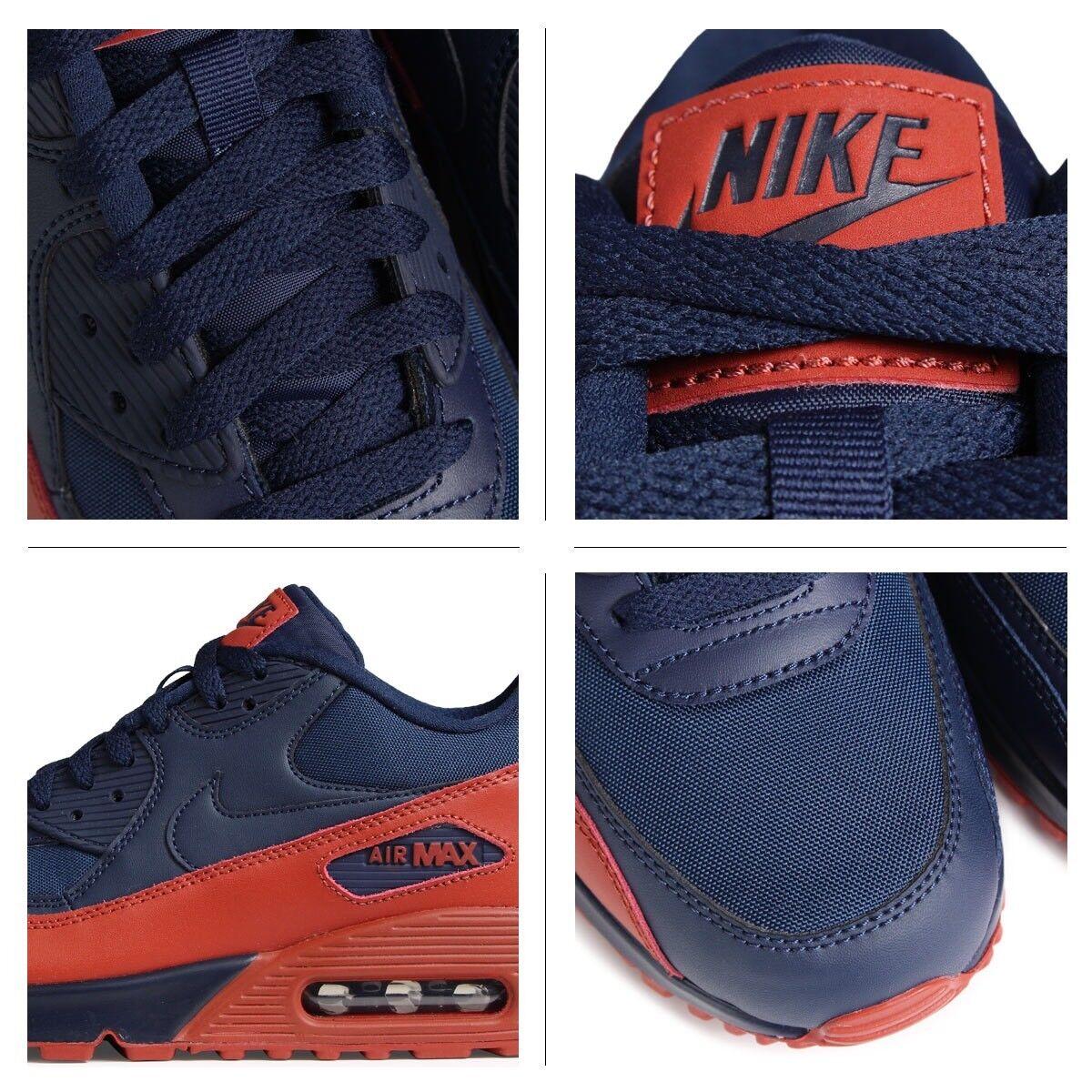 Nike Nike Nike air max 90 wesentliche obsidian marine dunkelorange mars - stein 537384-425 sz - 8 3a623e
