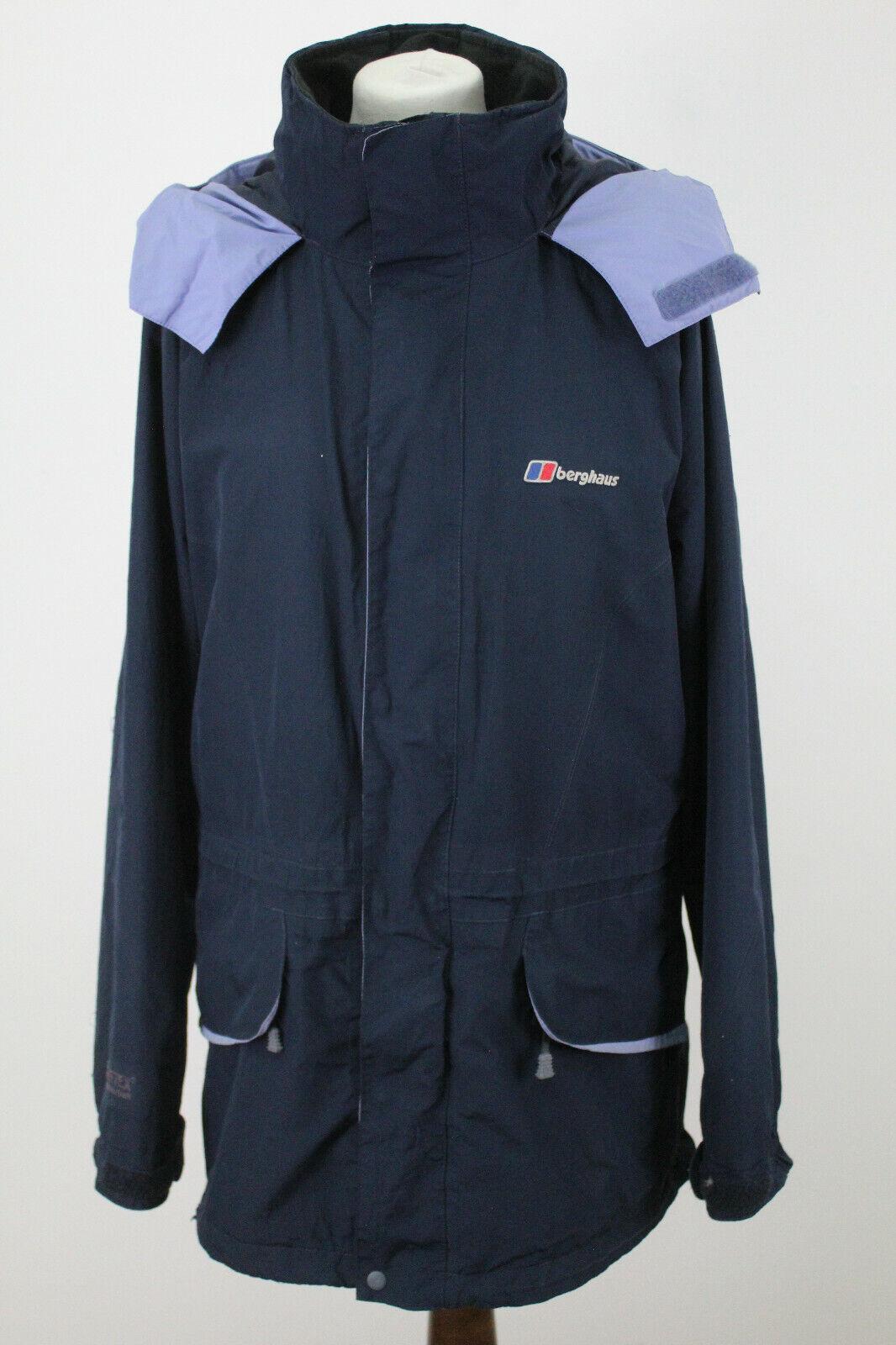 BERGHAUS Gore-Tex Navy Windbreaker Rain Jacket size Uk 16