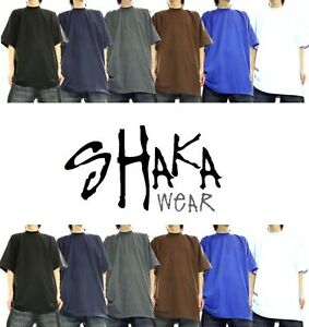 shaka wear super max heavy short sleeve t shirts size s