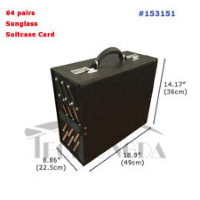 64 Piars Eyeglasses Display Case Portable Foldable Eyewear Suitcase Storage Box
