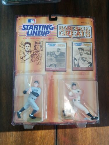 BASEBALL GREATS...BABE  RUTH AND LOU GEHRIG.. SEALED..PKG STARTING LINEUP..