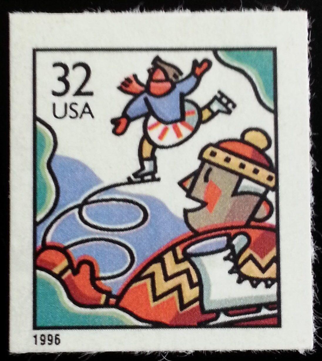1996 32c Ice Skaters, SA Scott 3117 Mint F/VF NH