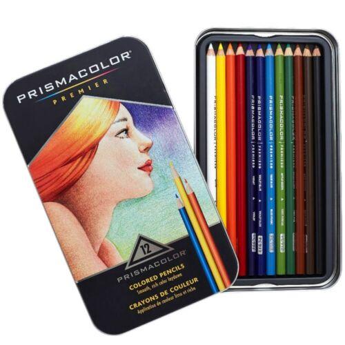 Prismacolor Premier Coloured Colouring Pencils in Tin Set 12 24 36 48 72 132 150