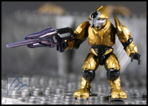 HALO MEGA BLOKS COVENANT GOLD ELITE ULTRA W// STORM RIFLE MINI FIGURE #97015