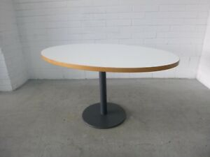 Office-Home-Oval-Top-Table-White-Melamine-Beech-Edging-Charcoal-Metal-Base-38779