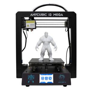 """EU ANYCUBIC i3 Mega Imprimante 3D Améliorer Ultrabase V5 J-head 3.5"""" TFT 1KG PLA"""