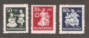 Slovakia-1943-Red-Cross-Issue-Scott-B11-B13-VF-MNH-A-D-St
