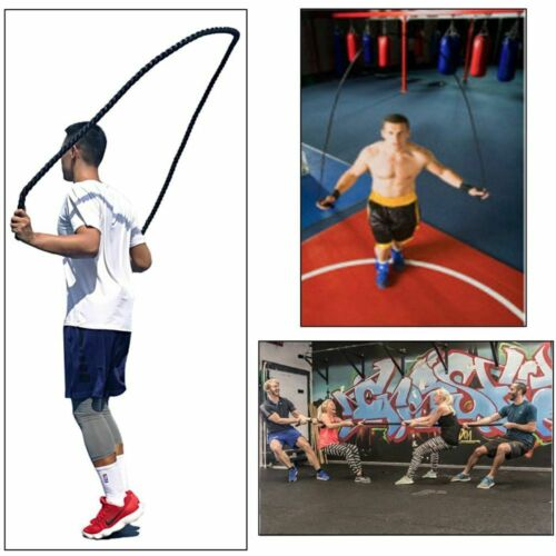 Fitness Heavy Jump Rope Crossfit Weighted Battle Skipping Ropes Power Training
