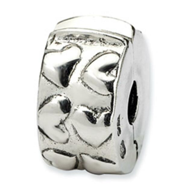 Reflections Sterling Silver Hinged Hearts Clip Bead