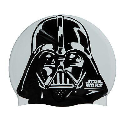 Speedo Star Wars Darth Vader Slogan Print Adult Swimming Cap new