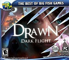 BIG FISH GAMES:DRAWN:DARK FLIGHT ENTER THE MAGICAL WORLDS.SHIPS FAST/SHIPS FREE!