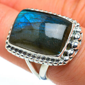 Labradorite-925-Sterling-Silver-Ring-Size-7-Ana-Co-Jewelry-R45753F