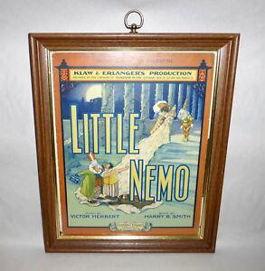 Details about Rare Antique 1908 Little Nemo Framed Sheet Music Klaw  Erlangers Be My Valentine