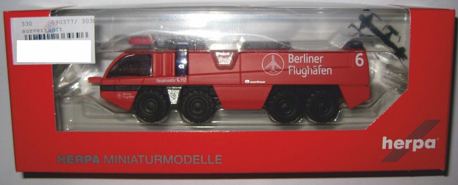 Herpa 090377 roses Bauer Design Panther Aéroport Pompiers Berlin 1 87 HO