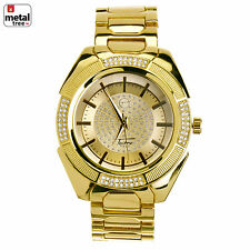 Hip Hop Fashion Gold Plated Stainless Steel Metal Mesh Band Watches WM 8362 G