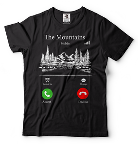 The-Mountains-Are-Calling-Funny-Hiking-T-shirt-Camping-shirt-Hiking-T-shirt
