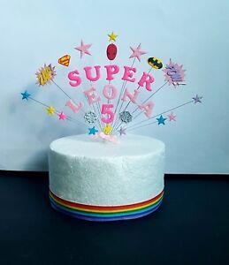 Stupendous Superhero Girl Birthday Cake Topper Personalised Spiderman Funny Birthday Cards Online Fluifree Goldxyz