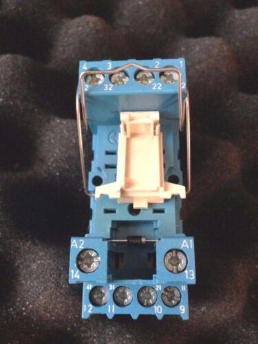 FINDER 55.34 RELAY 5A 250V  24VDC /& 94.74.1 RELAY BASE SOCKET and DIODE MODULE