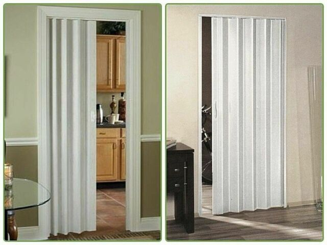 36 In X 80 In Via Vinyl White Accordion Door