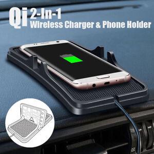 dhl qi auto handyhalterung halter pkw kfz wireless charger ladeger t ladestation ebay. Black Bedroom Furniture Sets. Home Design Ideas