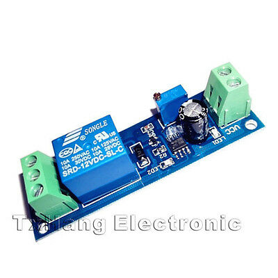 12V Delay Timer Switch Adjustable Relay module 0 to 10 Second NE555 Oscillator