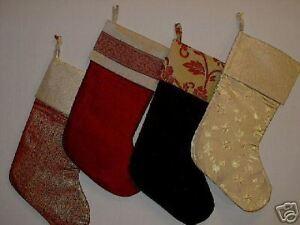 image is loading velvet amp brocade christmas stockings free mon - Velvet Christmas Stockings