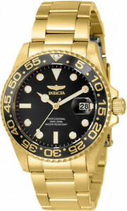 Invicta Women's 33263 Pro Diver Quartz 3 Hand Black Dial Watch