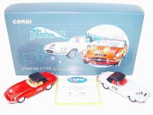 Corgi Toys 1 43 2 Supercats Jaguar E Type Racing Car Gift Set Mib
