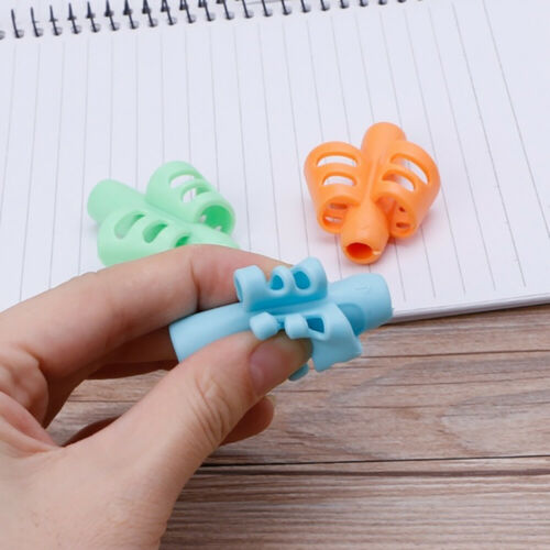 2//3-finger Kid Silicone Pen Pencil Grip Holder Writing Posture Correction Device