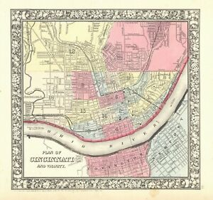 1863-S-A-Mitchell-034-Plan-of-the-City-of-Cincinnati-034-original