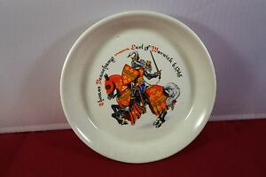 Earl of Warwick 1345 small round dish knight horse  history on back RWL London - <span itemprop=availableAtOrFrom> Scotland, United Kingdom</span> - Earl of Warwick 1345 small round dish knight horse  history on back RWL London -  Scotland, United Kingdom