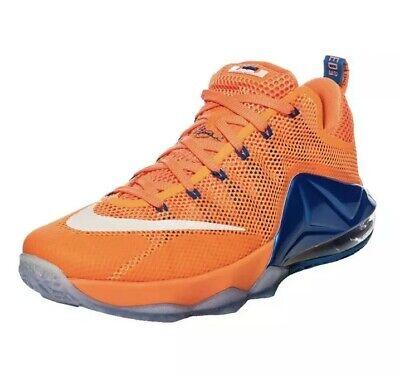 Nike Lebron XII Low Size 12 Bright CitrusRoyal Blue Total Orange 724557 838 10 | eBay