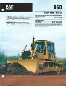 Details about Equipment Brochure - Caterpillar - D6D - Track-type Tractor -  1992 (E3981)