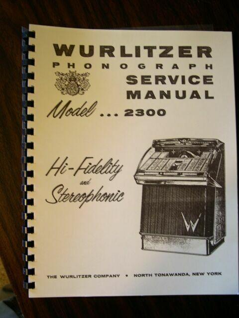 Wurlitzer Model 2300-2310 Jukebox Manual