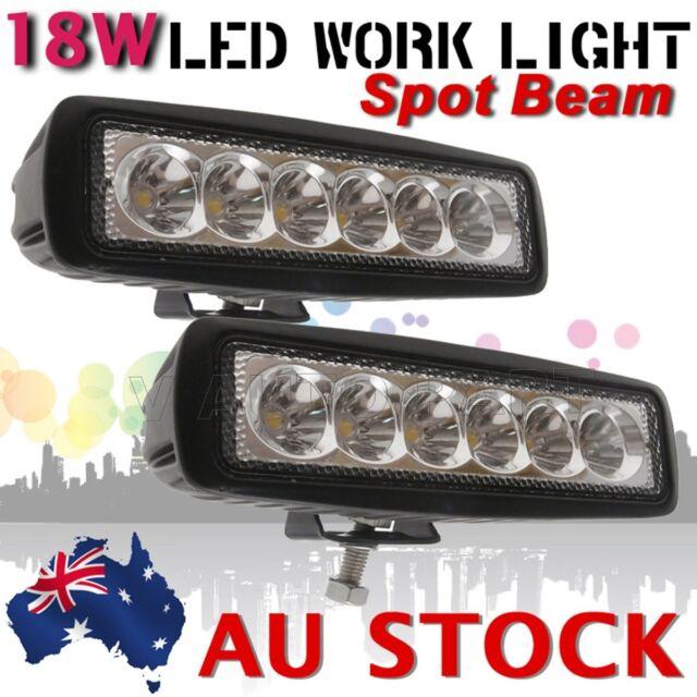 2X Slim 18W LED Work Light Bar Car Truck Boat Fog Driving Lamp 12V 24V AU SHIP