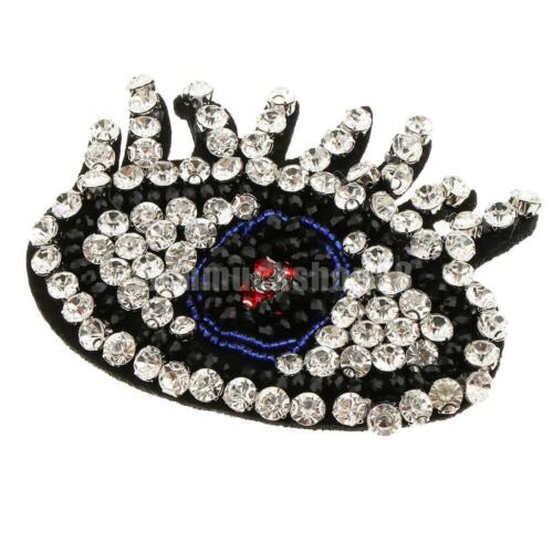 Eye Crystal Beaded Rhinestone Patch Embroidered Applique Accessories Crafts