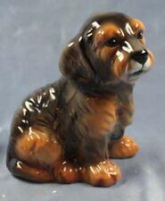 Rauhhaar Dackel Teckel hund Keramik  hundefigur lebensgroß porzellan figur k