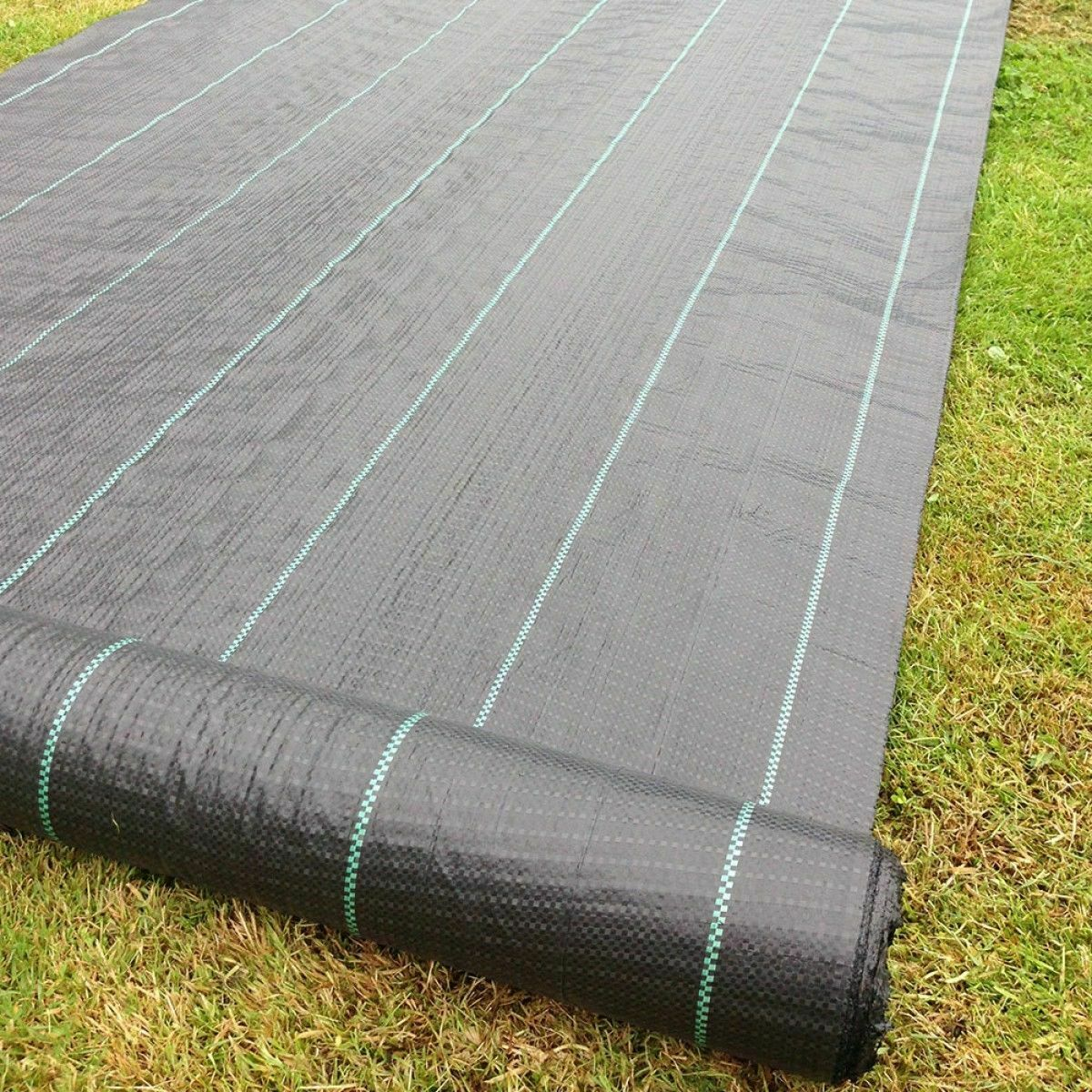 20 PEGS YUZET 2m x 25m 100g Weed Control Ground Cover Driveway Membrane Fabric