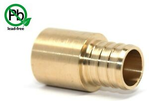 25-1-2-034-PEX-X-1-2-034-MALE-SWEAT-ADAPTERS-BRASS-CRIMP-FITTINGS-LEAD-FREE