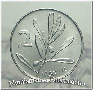 Repubblica Italiana - 2 Lire Ulivo / Ape dal 1953 al 1959  FDC / UNC  ASS.
