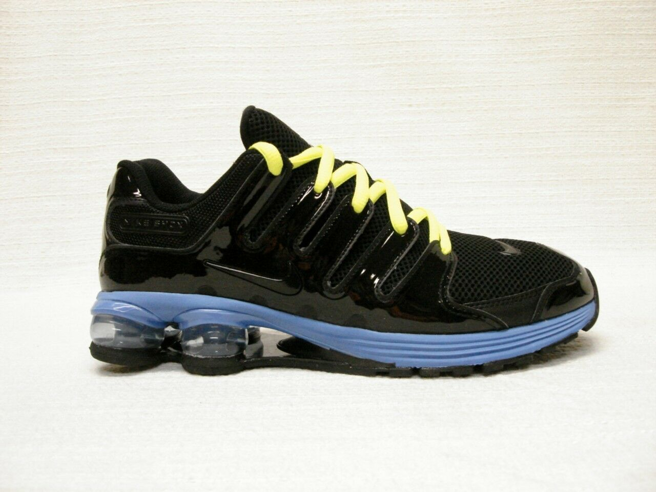 NIB NIKE SHOX AIR LUNAR  MEN'S SHOES~11.5~BLACK~BLUE~NICE