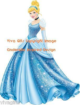 Cinderella Inspired Princess Iron On Transfer - Kids Crafts Gift 13x9cms