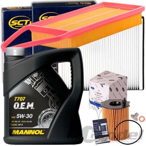 Filterset inspektionskit MANNOL 5w30 petróleo 1.4 tdci ford fiesta 5 Fusion ju 68 CV