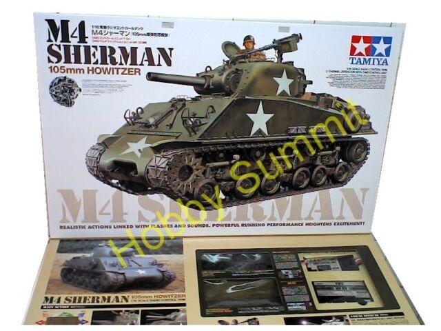Tamiya 1/16 R/C Full-Option US Army M4 SHERMAN TANK  Unassembled Kit  #56014