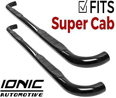 SuperCrew, Black Fits Fits 2015-Up Ford F150 and Ionic 3 2017-Up Super Duty F250 F350 Only Nerf Bars Side Steps
